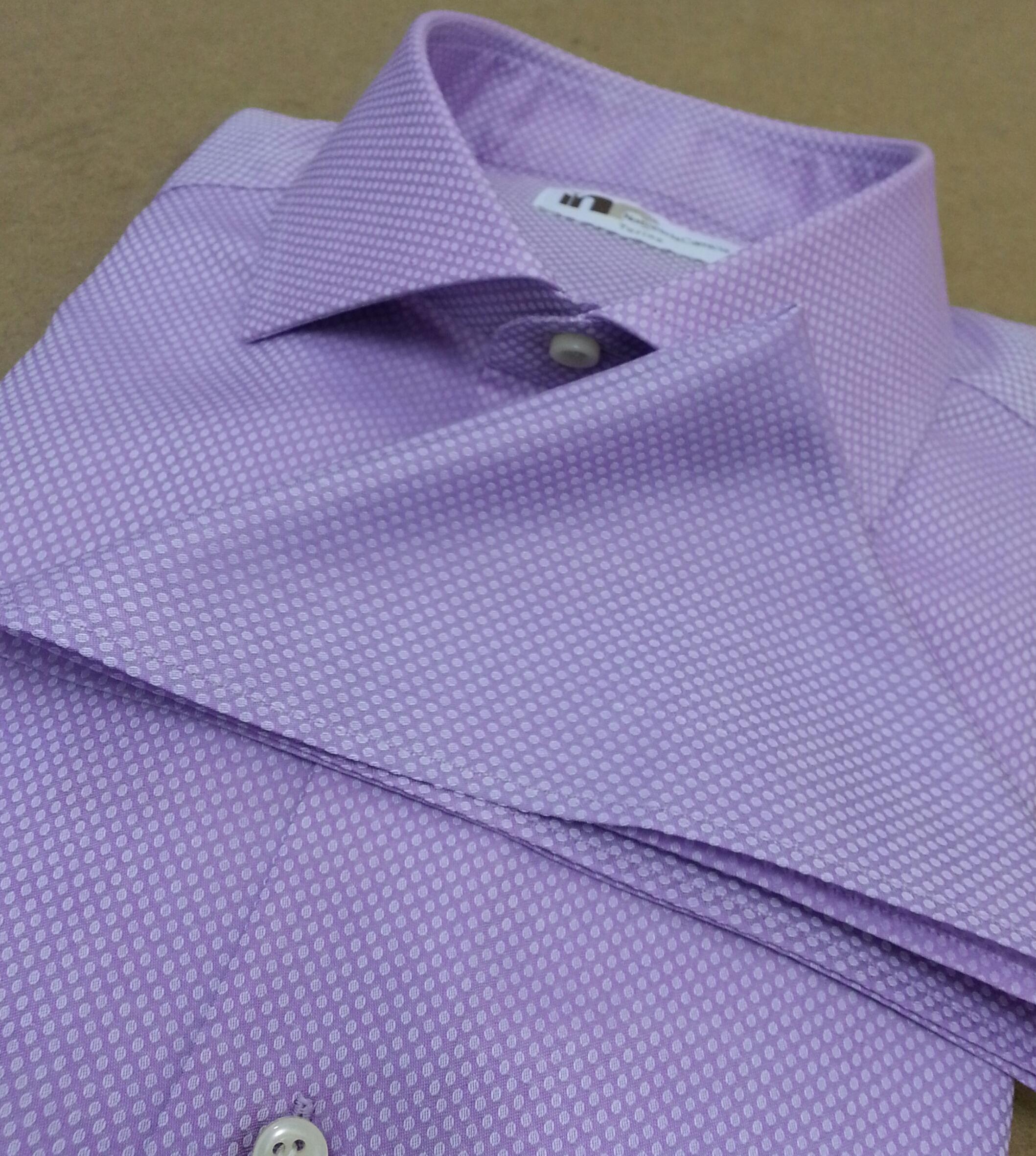 selezione premium dc524 5939c Camicia da uomo elegante viola a pois | Nato per la camicia